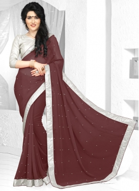 Bewitching Lace Work Classic Saree