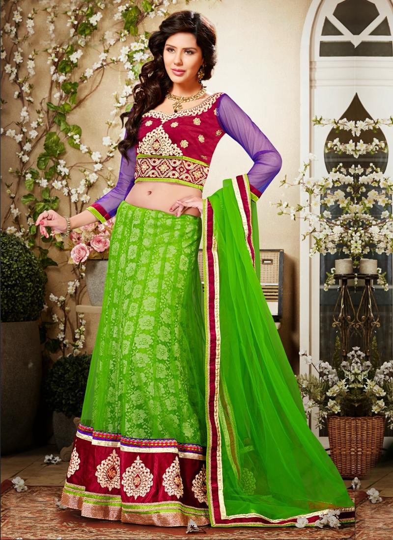 Bewitching Net Wedding Lehenga Choli