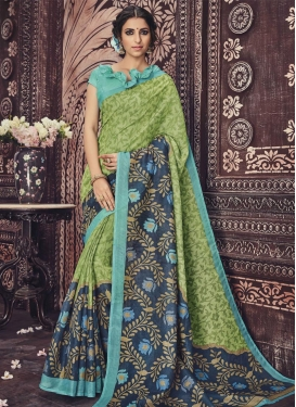 Bewitching  Print Work Contemporary Style Saree