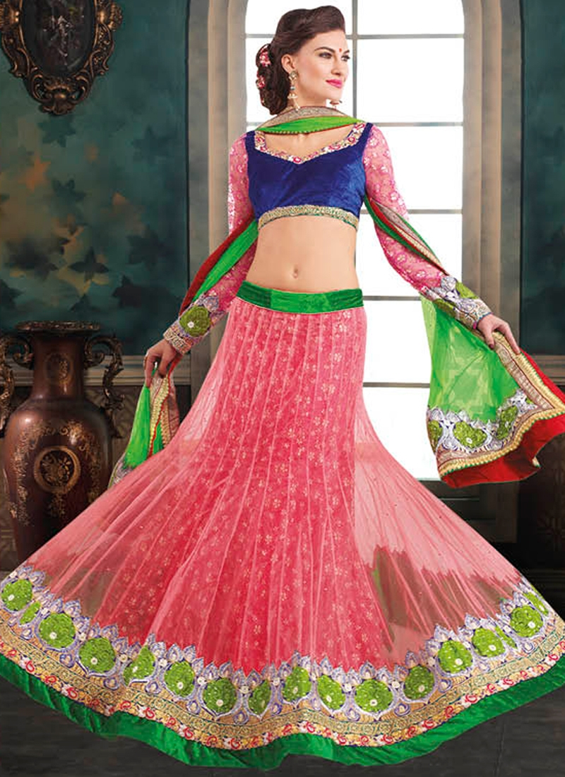 Bewitching Resham And Lace Work Wedding Lehenga Choli