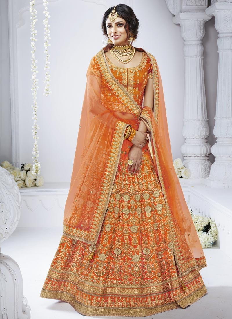 Bhagalpuri Silk A Line Lehenga Choli For Bridal