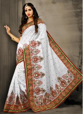 Bhagalpuri Silk Booti Work Classic Saree