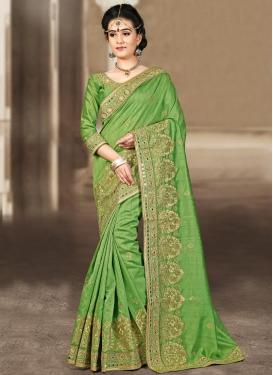 Bhagalpuri Silk Booti Work Contemporary Style Saree For Festival