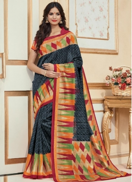 Bhagalpuri Silk Classic Saree For Casual