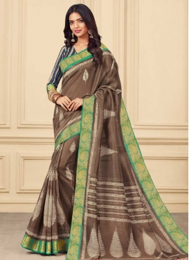 Bhagalpuri Silk Classic Saree For Casual