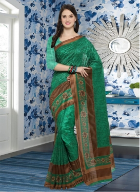 Bhagalpuri Silk Contemporary Saree For Casual