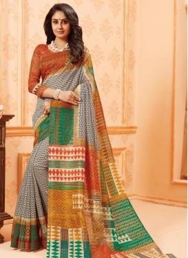 Bhagalpuri Silk Contemporary Style Saree