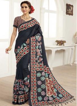 Bhagalpuri Silk Designer Contemporary Saree For Casual