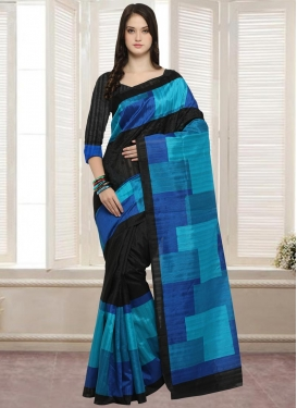Bhagalpuri Silk Digital Print Work Classic Saree