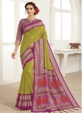 Bhagalpuri Silk Digital Print Work Designer Contemporary Style Saree