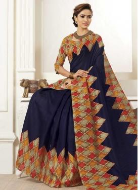 Bhagalpuri Silk Digital Print Work Trendy Classic Saree