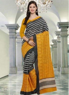 Bhagalpuri Silk Embroidered Work Contemporary Saree