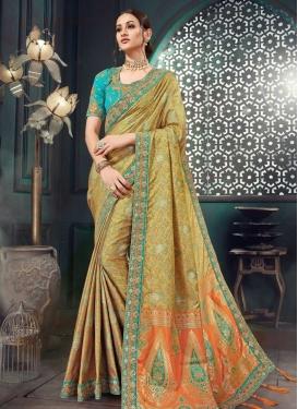 Bhagalpuri Silk Embroidered Work Designer Contemporary Saree