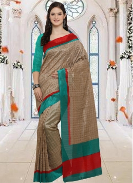 Bhagalpuri Silk Embroidered Work Trendy Classic Saree