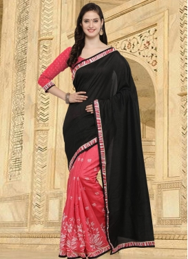 Bhagalpuri Silk Half N Half Saree For Casual