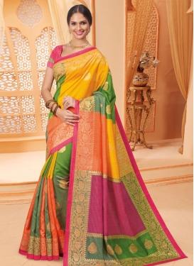 Bhagalpuri Silk Trendy Saree For Casual