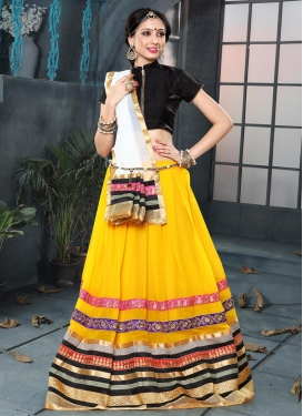 Black and Gold Trendy Lehenga
