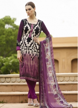 Black and Magenta  Crepe Silk Churidar Designer Suit