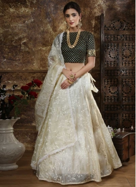 Black and Off White Trendy Designer Lehenga Choli