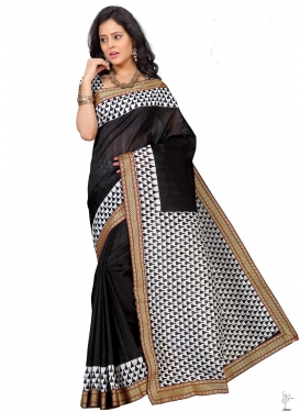 Black and White Traditional Saree
