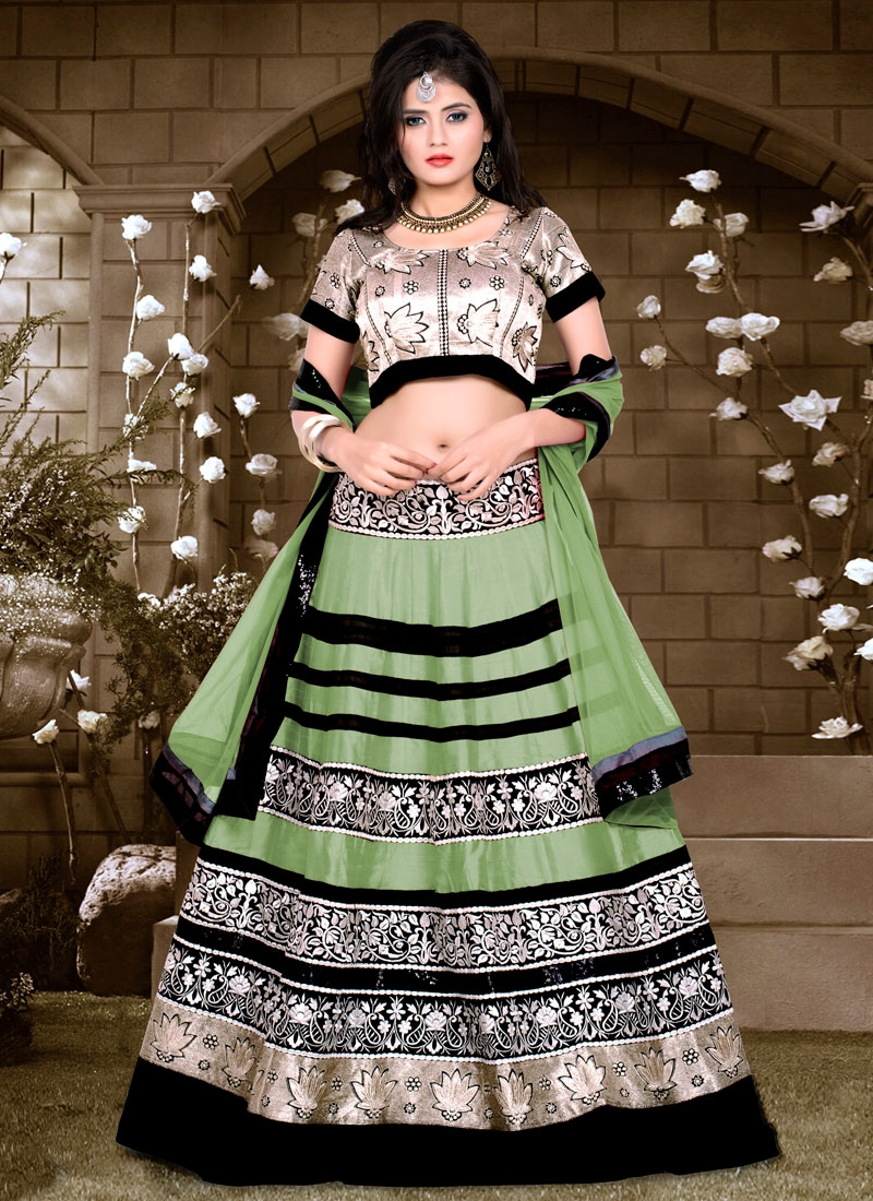 Blissful Banglori Silk And Net Designer Lehenga Choli