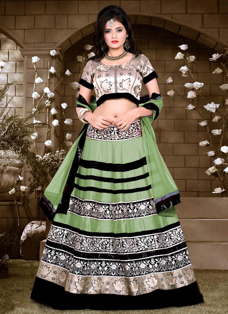 Blissful Banglori Silk And Net Designer Lehenga Choli