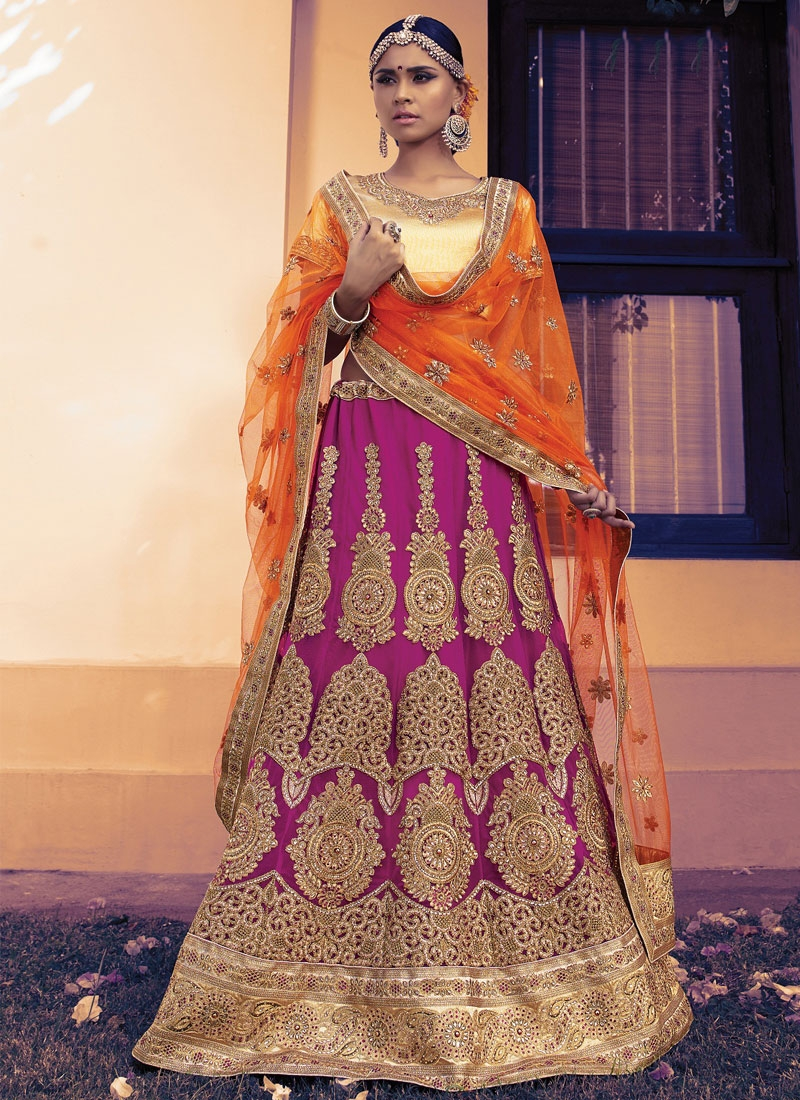 Blissful Booti And Resham Work Bridal Lehenga Choli