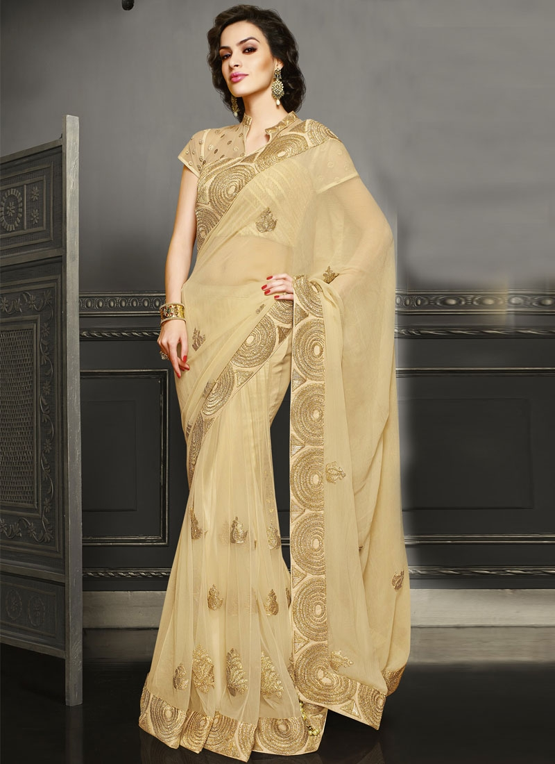 Blissful Booti And Zari Work Wedding Saree