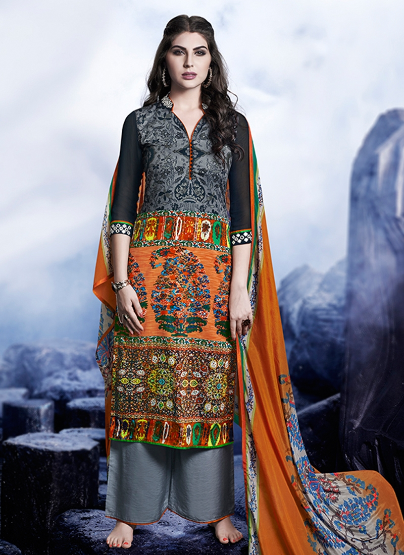 Blissful Digital Print Work Palazzo Style Pakistani Suit