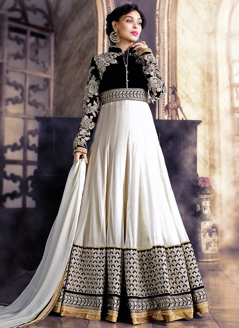 Blissful Embroidery Work Floor Length Wedding Salwar Suit