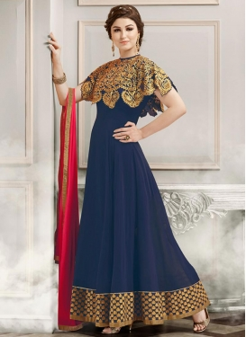 Blissful Faux Georgette Designer Salwar Kameez For Ceremonial