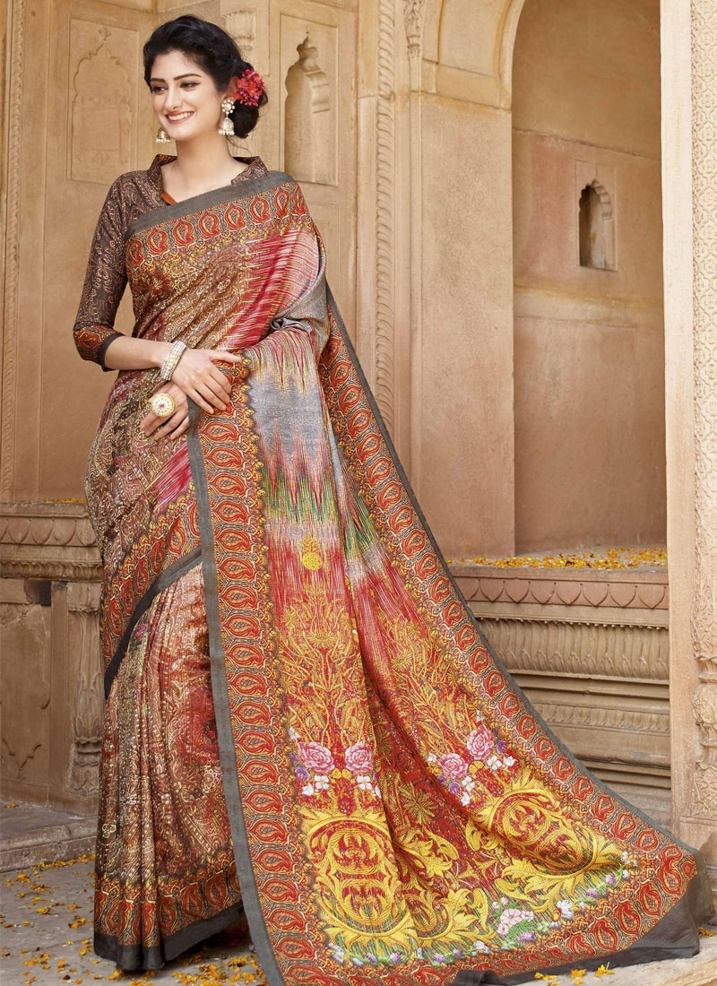 Blissful Multi Color Casual Saree
