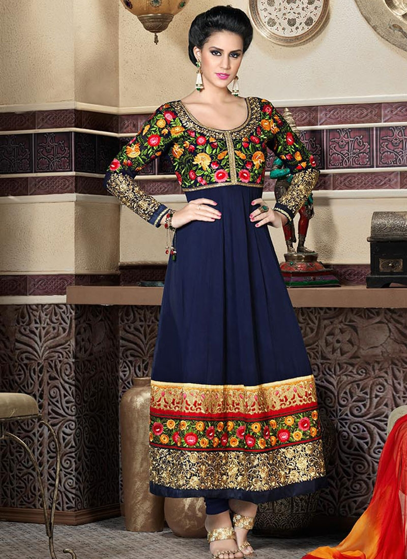 Blissful Navy Blue Color Wedding Salwar Suit