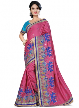 Blissful Resham And Stone Work Designer Saree