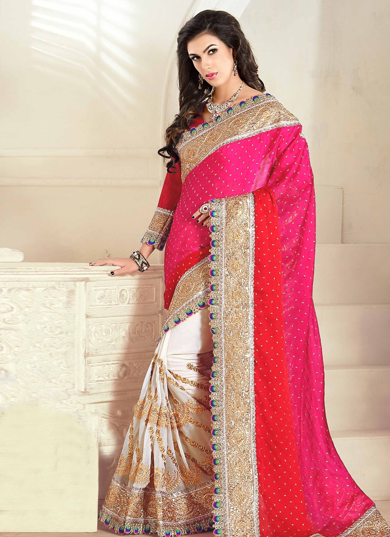 Blissful Shimmer Georgette Wedding Saree
