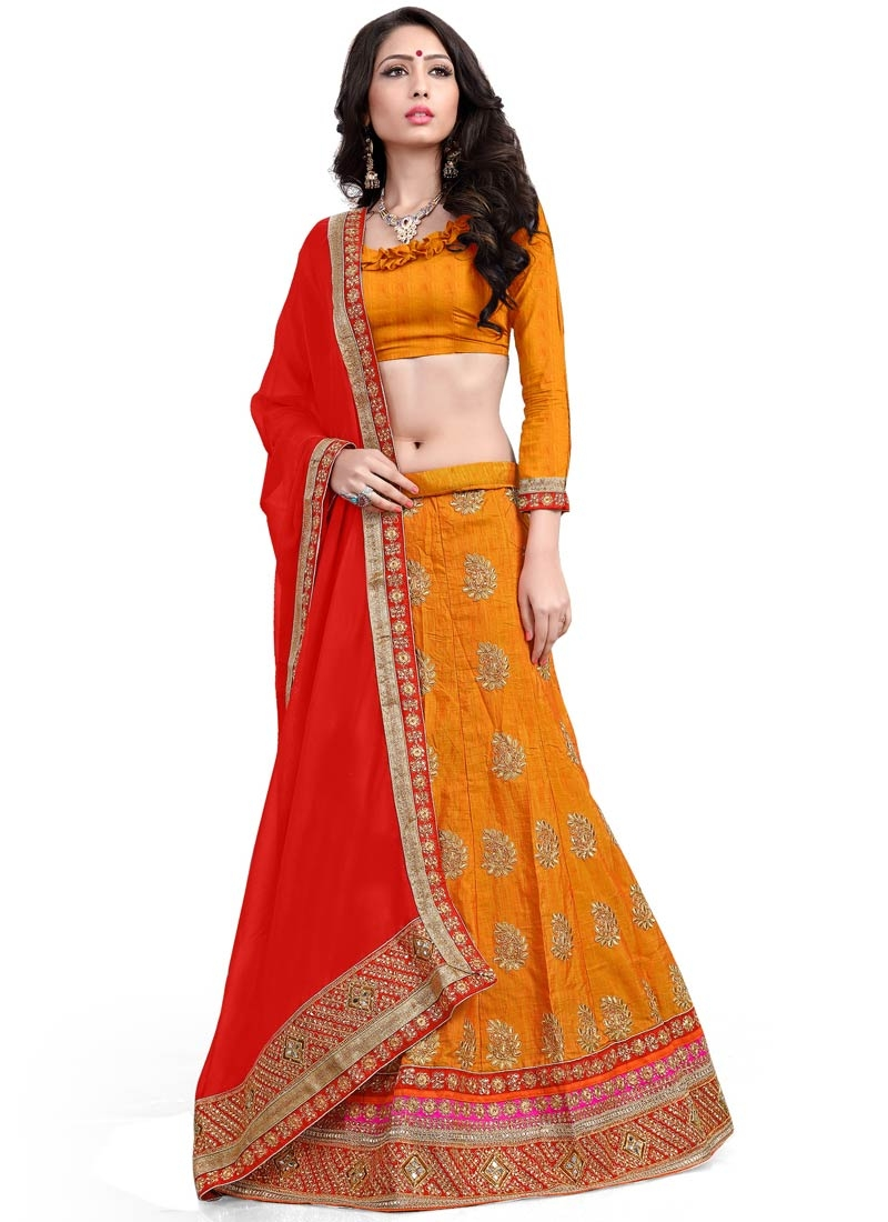 Blissful Stone Work Silk Designer Lehenga Choli