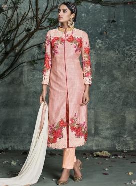 Blissful Stone Work Silk Pant Style Designer Salwar Kameez