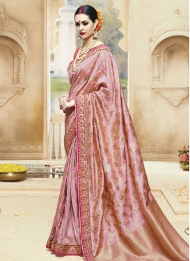 Block Print Work Trendy Saree
