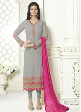 Blooming Ayesha Takia Embroidered Work Pakistani Straight Salwar Suit