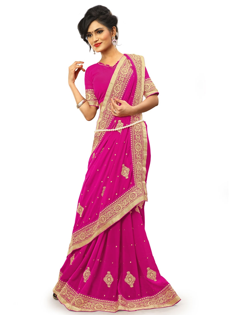 Blooming Booti Work Party Wear Saree