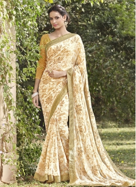 Blooming Contemporary Style Saree For Ceremonial