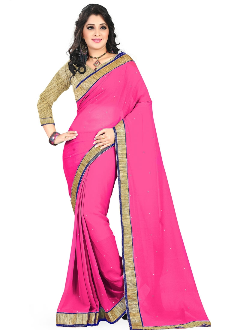 Blooming Faux Georgette Casual Saree