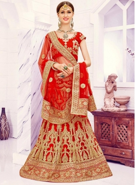 Blooming  Net Trendy A Line Lehenga Choli