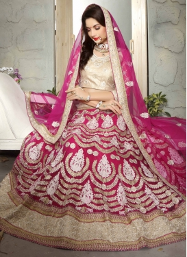 Blooming Stone And Beads Work Bridal Lehenga Choli