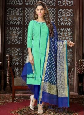 Blue and Turquoise Trendy Salwar Kameez