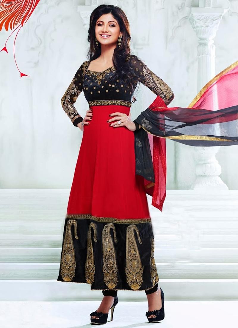 Booti Enhanced Shilpa Shetty Bollywood Salwar Kameez