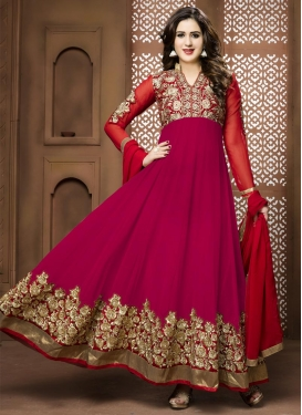 Booti Work Ankle Length Anarkali Salwar Suit