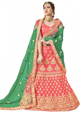 Booti Work Art Silk Trendy A Line Lehenga Choli