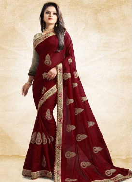 Booti Work Art Silk Trendy Saree