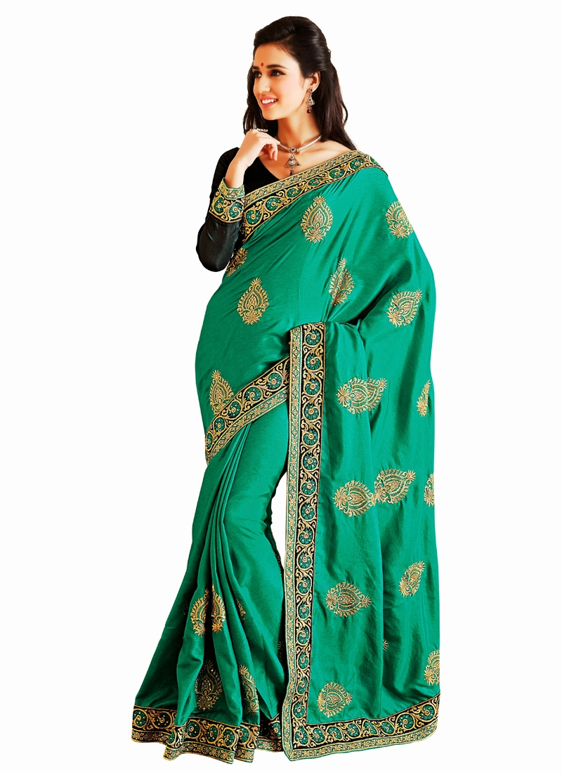 Booti Work Bhagalpuri Silk Party Wear Saree